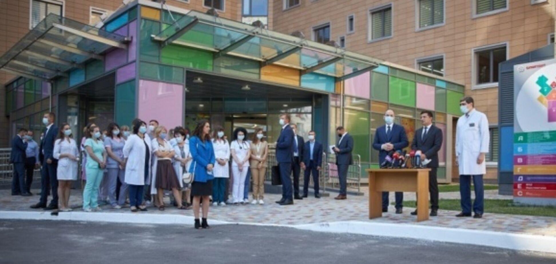 Открытие нового корпуса 'Охматдета' состоялось 29 июля (фото: Укринформ)