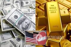 Доллар США и золото