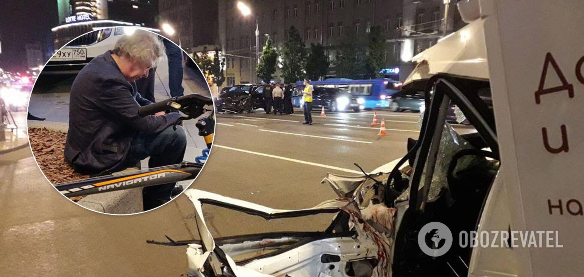 Актер Ефремов устрои смертельное ДТП в Москве (коллаж)