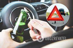 Пьяные водители в Украине в 2020-м побили годичный антирекорд: чем обернется поблажка Зеленского