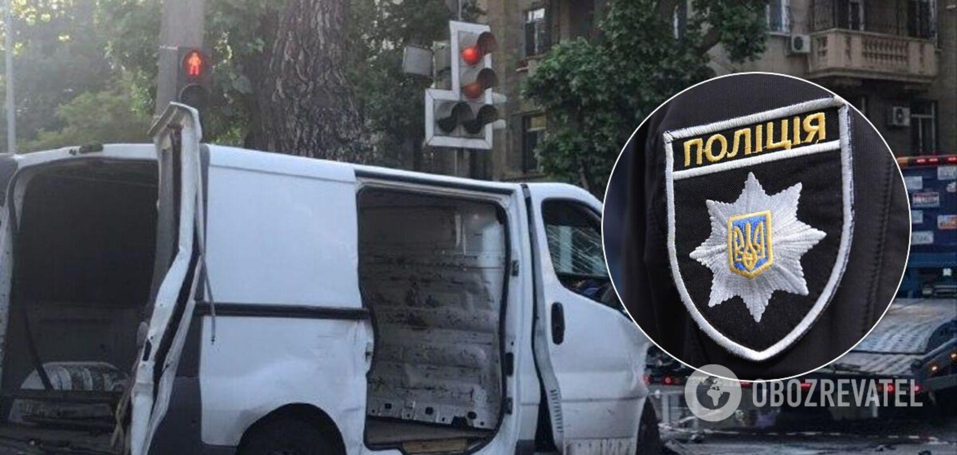 ДТП з поліцейськими в Одесі: з'явилося відео удару