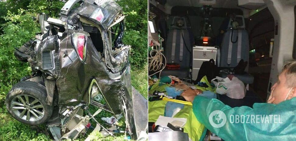 На Львовщине произошло смертельное ДТП с детьми: девочку в коме доставили в Киев вертолетом. Фото