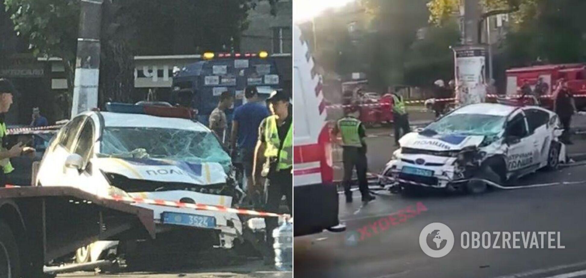 В Одесі патрульний автомобіль розбився в жорсткій ДТП