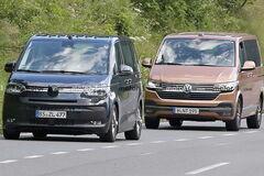 Почувствуйте разницу: прототип VW Transporter поймали с актуальным T6.1