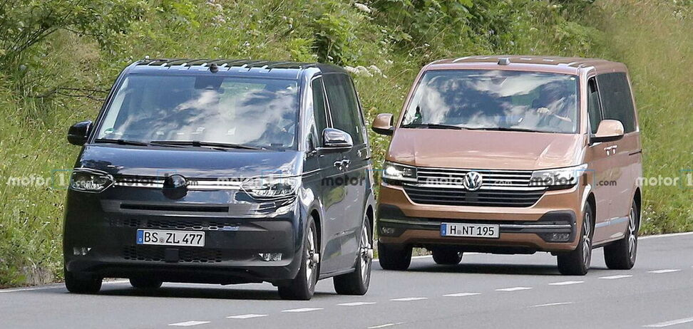 Відчуйте різницю: прототип VW Transporter зловили з актуальних T6.1