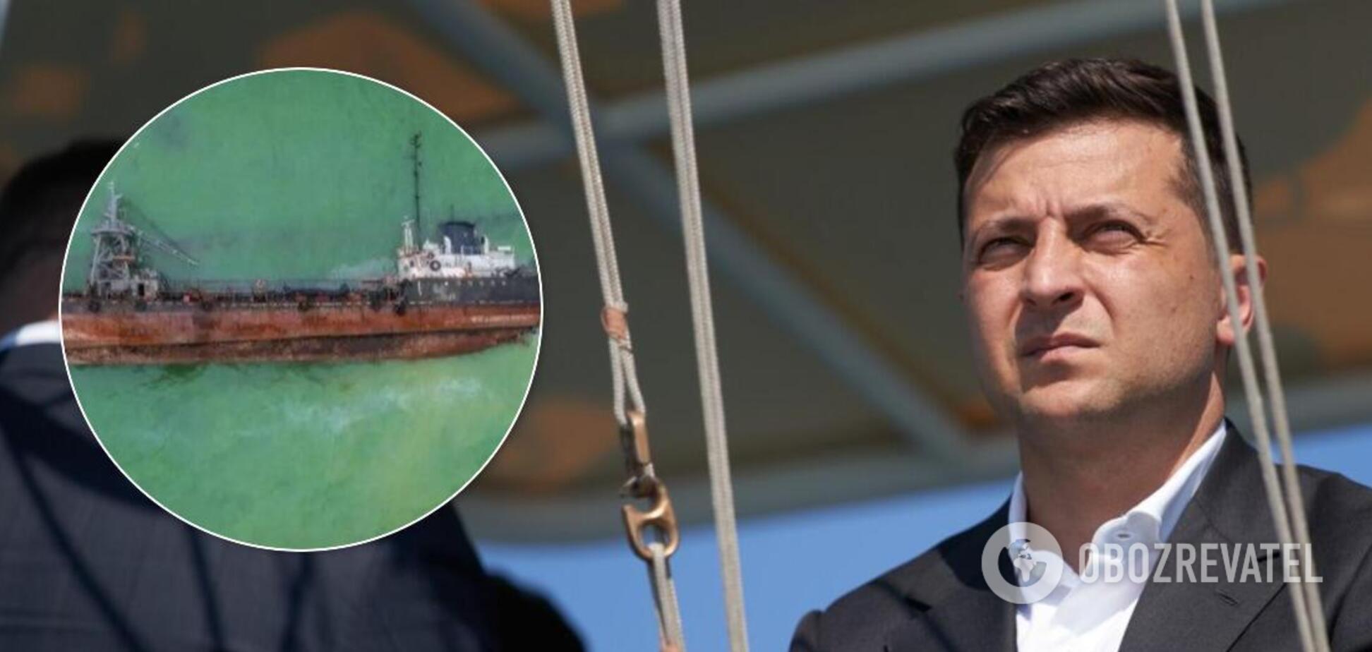 Зеленський – про НП з танкером Delfi: показуємо, що ми імпотентна влада