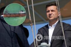 Зеленский – о ЧП с танкером Delfi: показываем, что мы импотентская власть