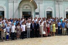 В Батурине провели форум во время карантина (фото: Facebook Сергея Шахова)