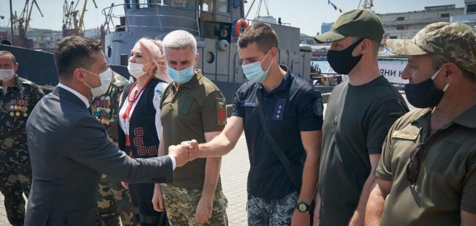Зеленський в Одесі пообіцяв вирішити проблеми ветеранів (фото: пресслужба президента України)