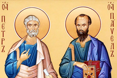 Апостоли Петро і Павло були найближчими учнями Ісуса Христа