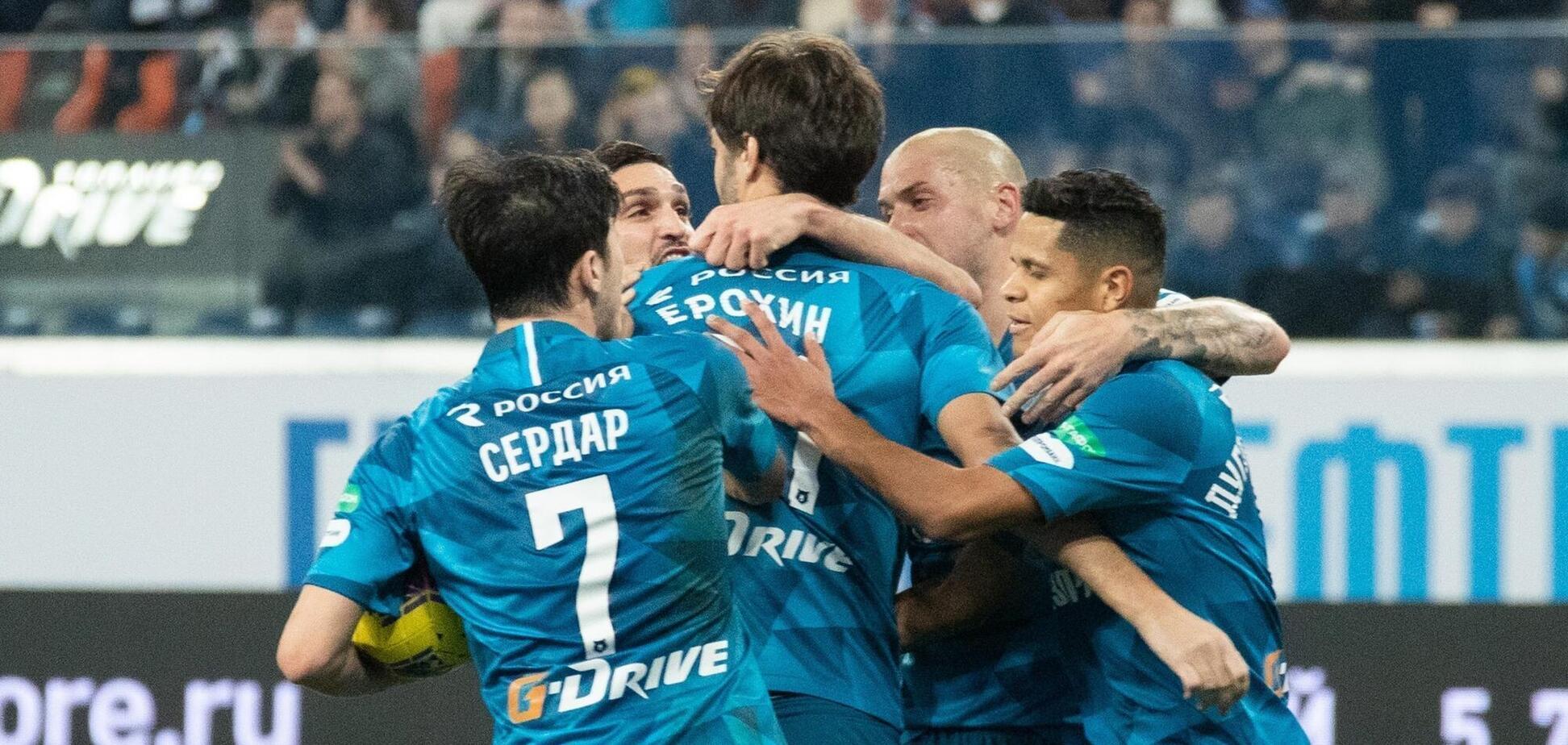 Футболісти 'Зеніту' святкують гол