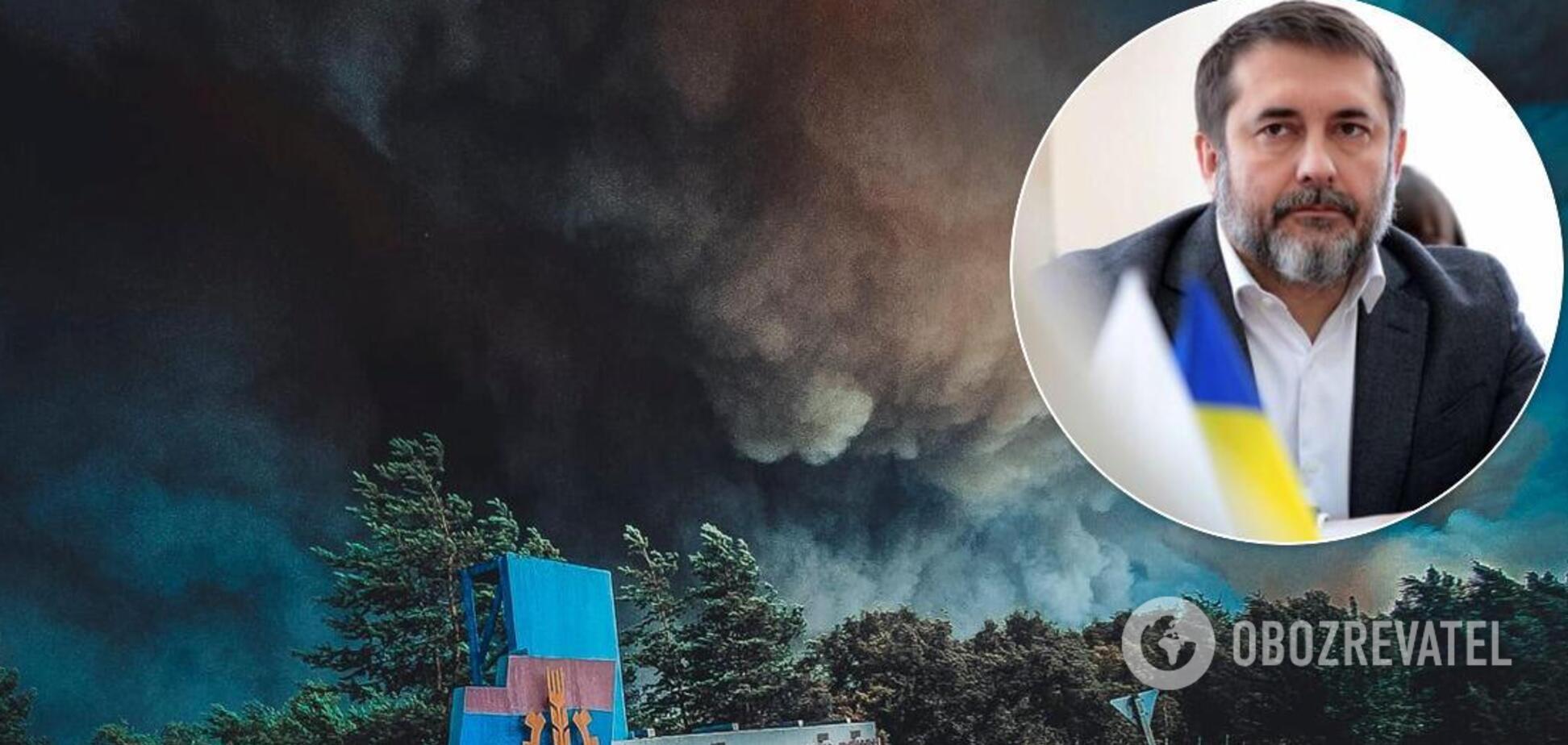 Сергій Гайдай не виключив, що ліси могли підпалити, але точний аналіз іще не зробили