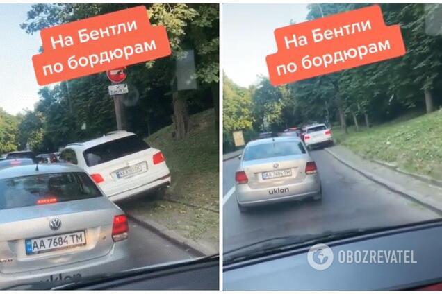 У Києві зняли дуже нахабного водія на позашляховику Bentley