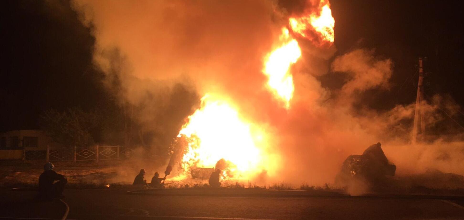 Під Черкасами загорілася цистерна з пальним: загинув молодий водій