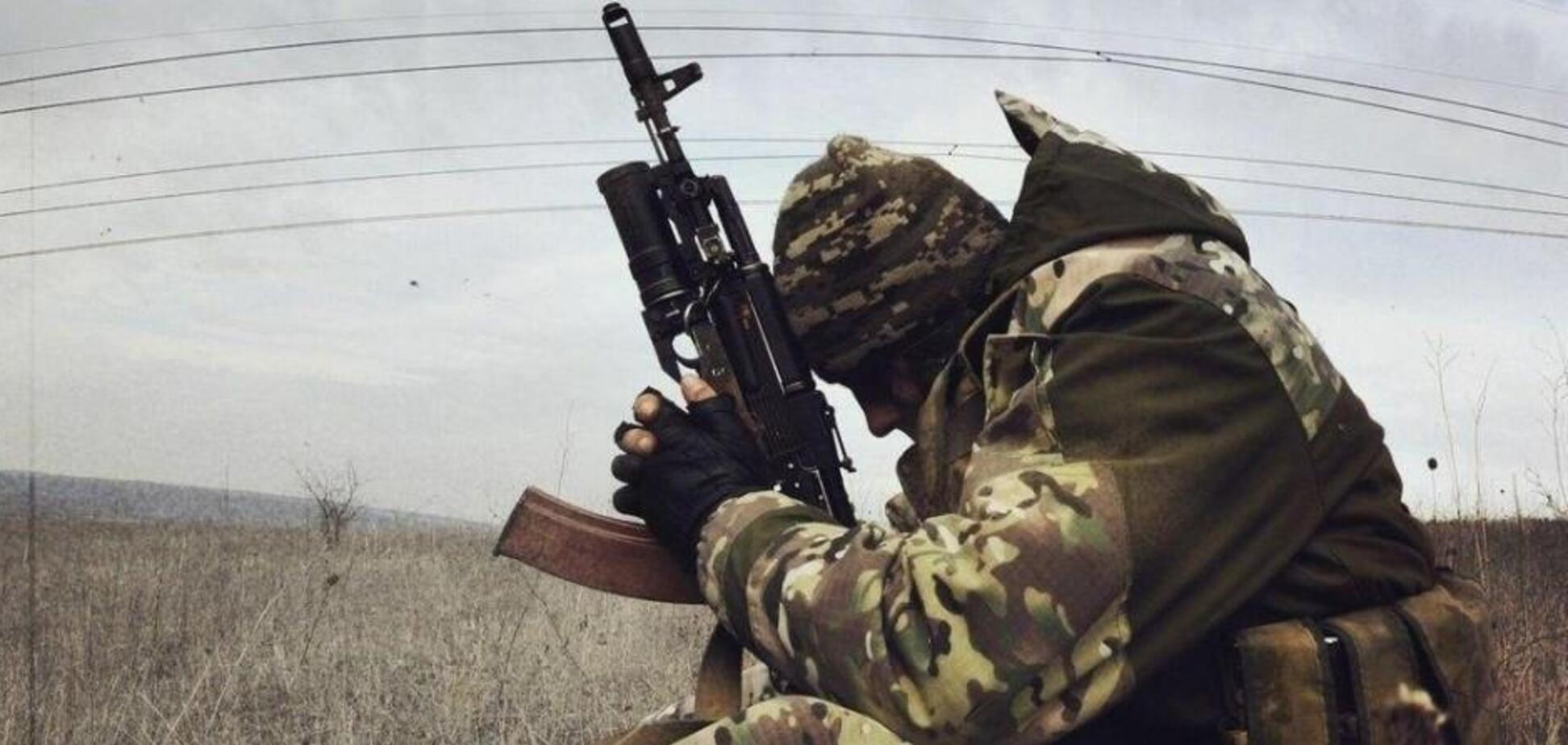 Воин на Донбассе