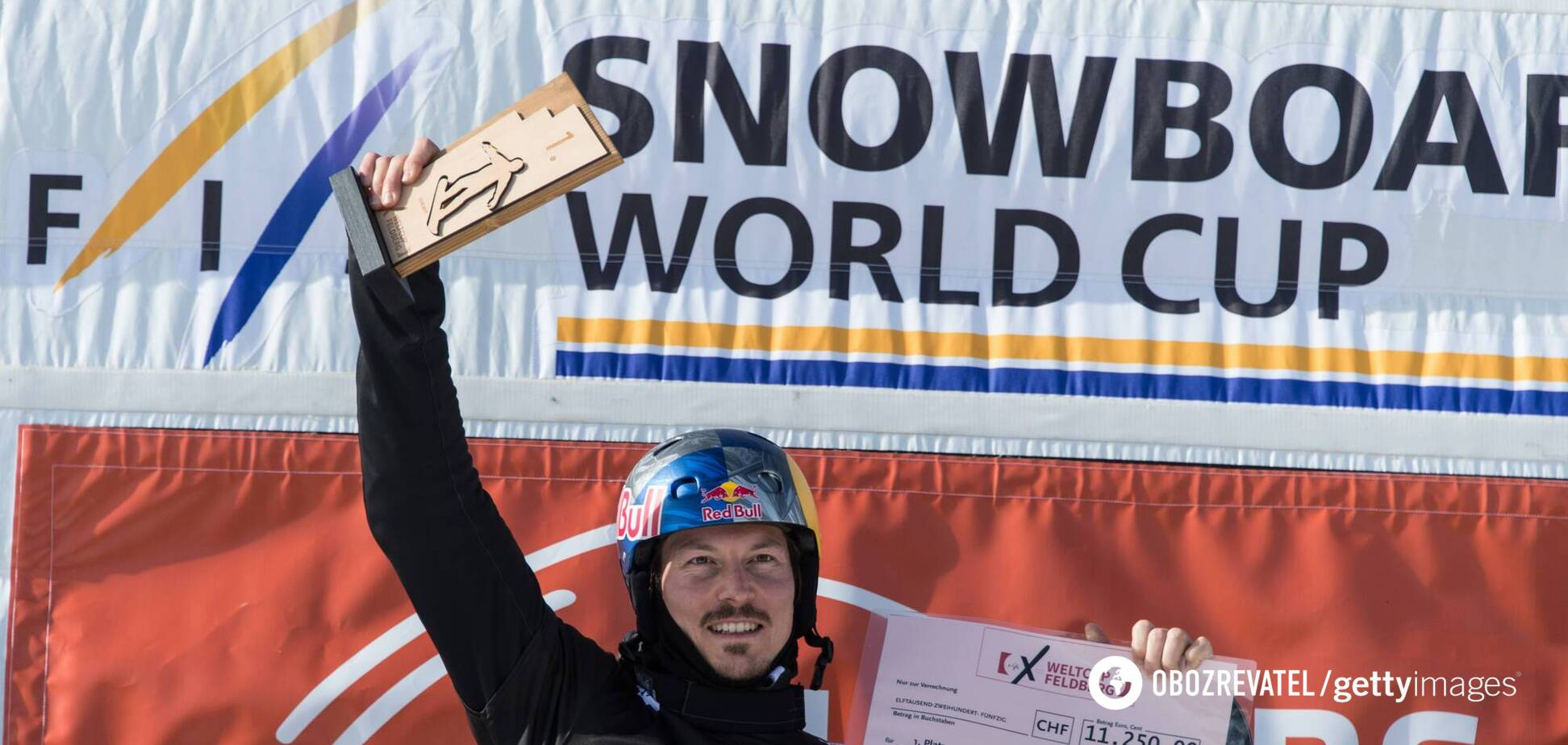 Алекс Пуллин на чемпионате мира по сноуборду