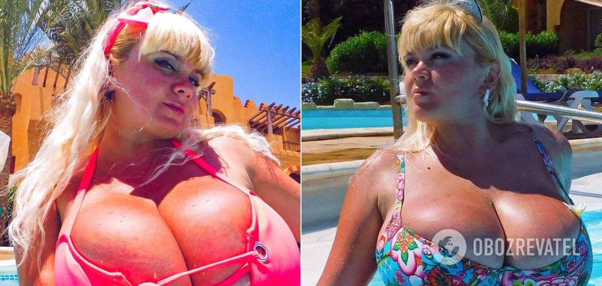 В Україні визначили жінку з найбільшими натуральними грудьми. Фото