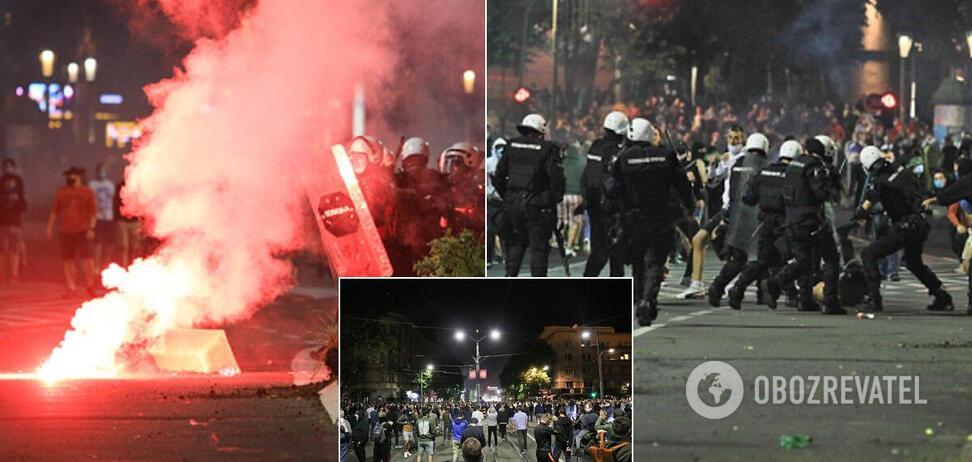 Протесты в Сербии из-за карантина