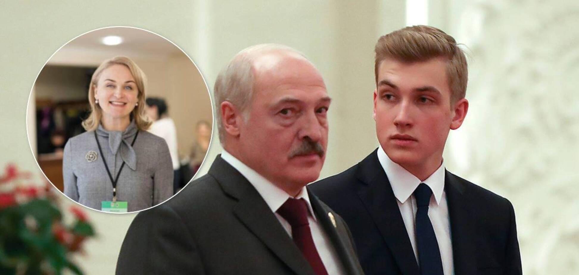 Олександр і Микола Лукашенки, Ірина Абельська (колаж)