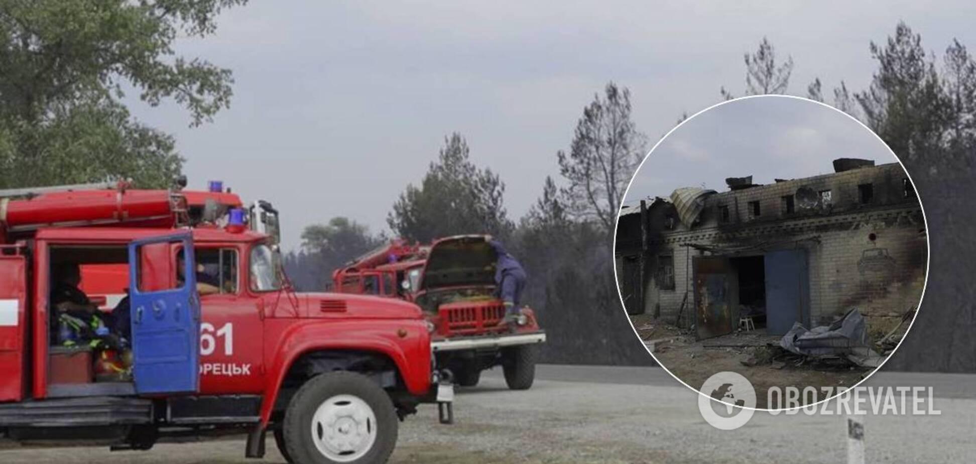 Лісова пожежа в Луганській області