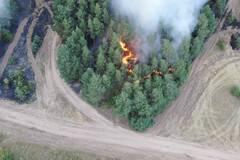 Пожары в Луганской области