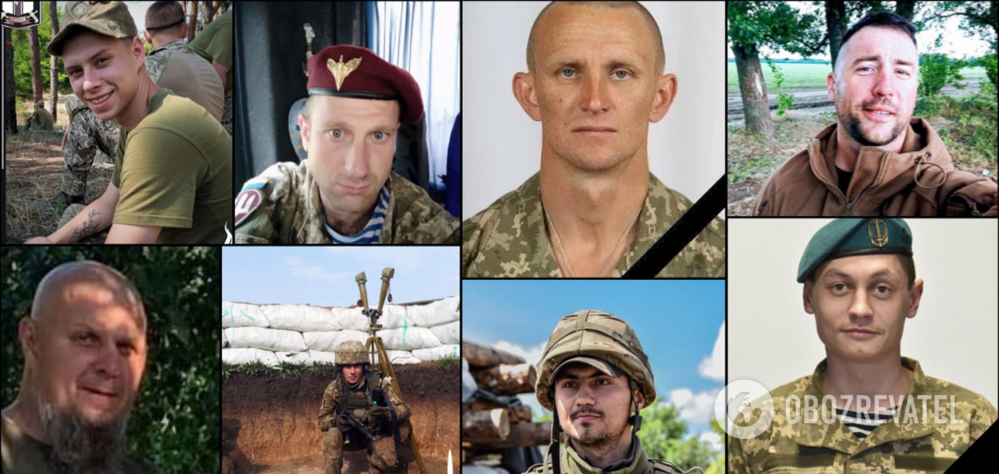 'А на фото вони посміхаються...' Що відомо про героїв, які загинули на Донбасі в липні