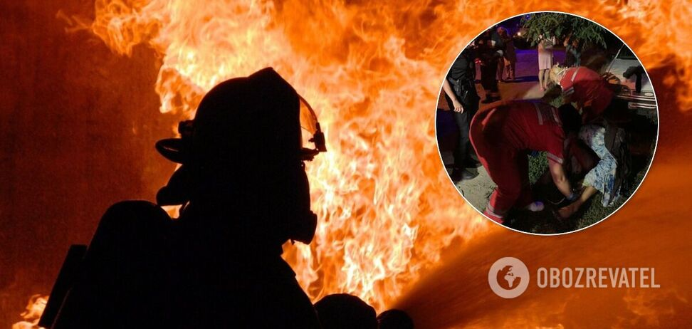 В Днепре произошел масштабный пожар: мужчина с ожогами попал в реанимацию