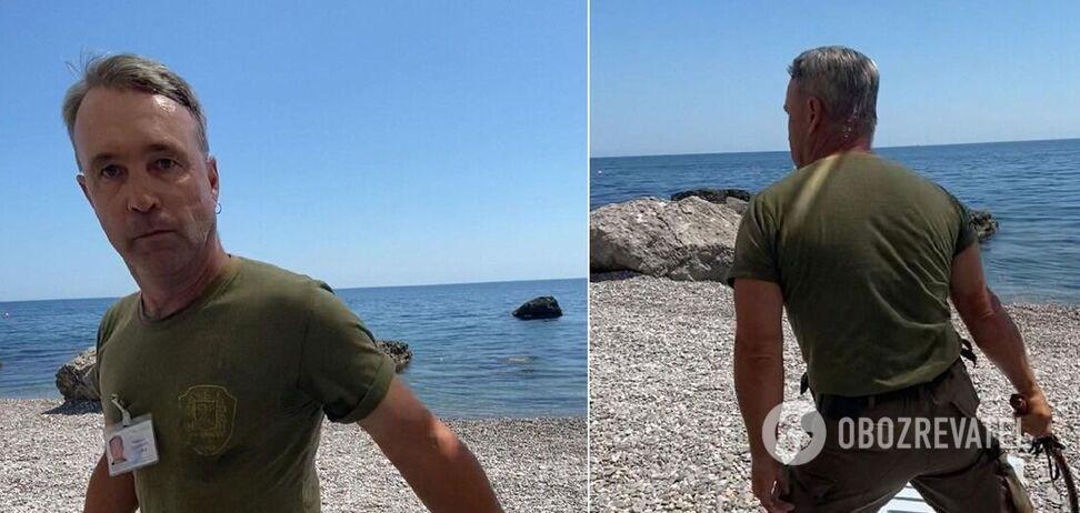 На пляжі в Криму охронець-'козак' напав на родину туристів з нагайкою