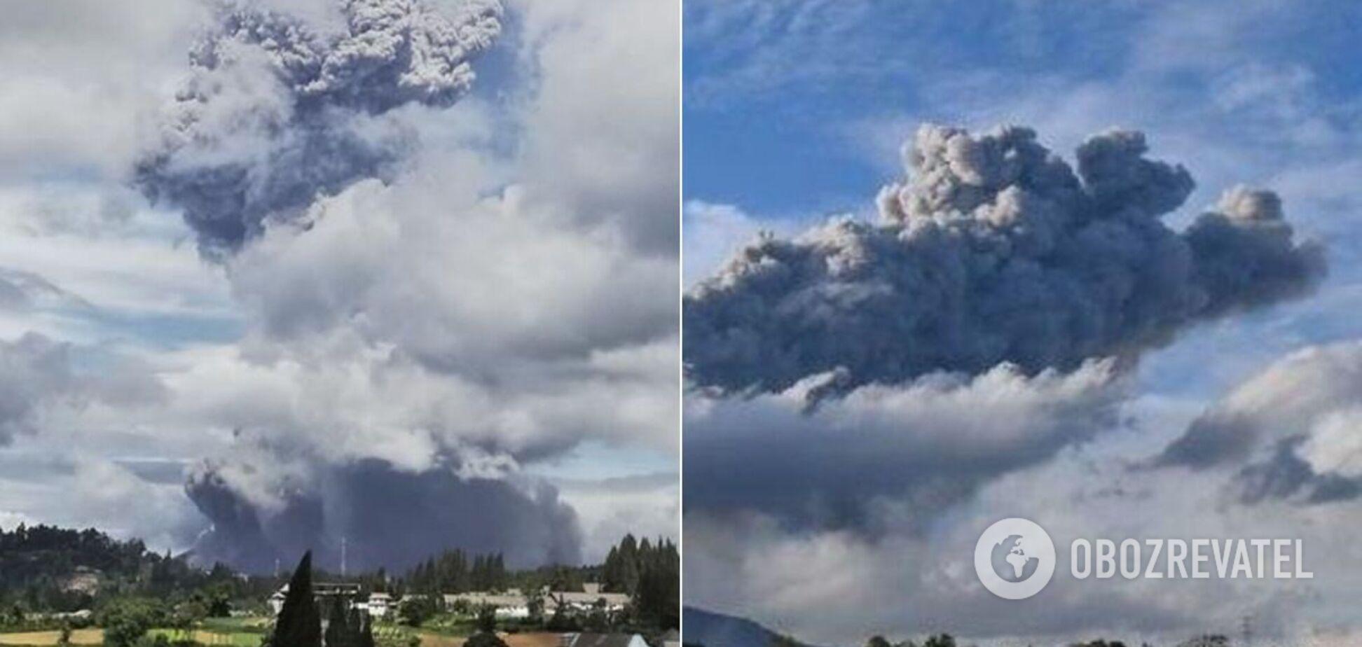 Пепел из вулкана уже охватил несколько сел