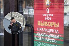На протесте в Беларуси ОМОН опустил щиты