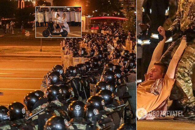 У Білорусі після виборів зібрався 'Майдан': поліція застосувала силу, є поранені. Всі деталі