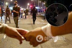 Во время протестов в Беларуси избили пару