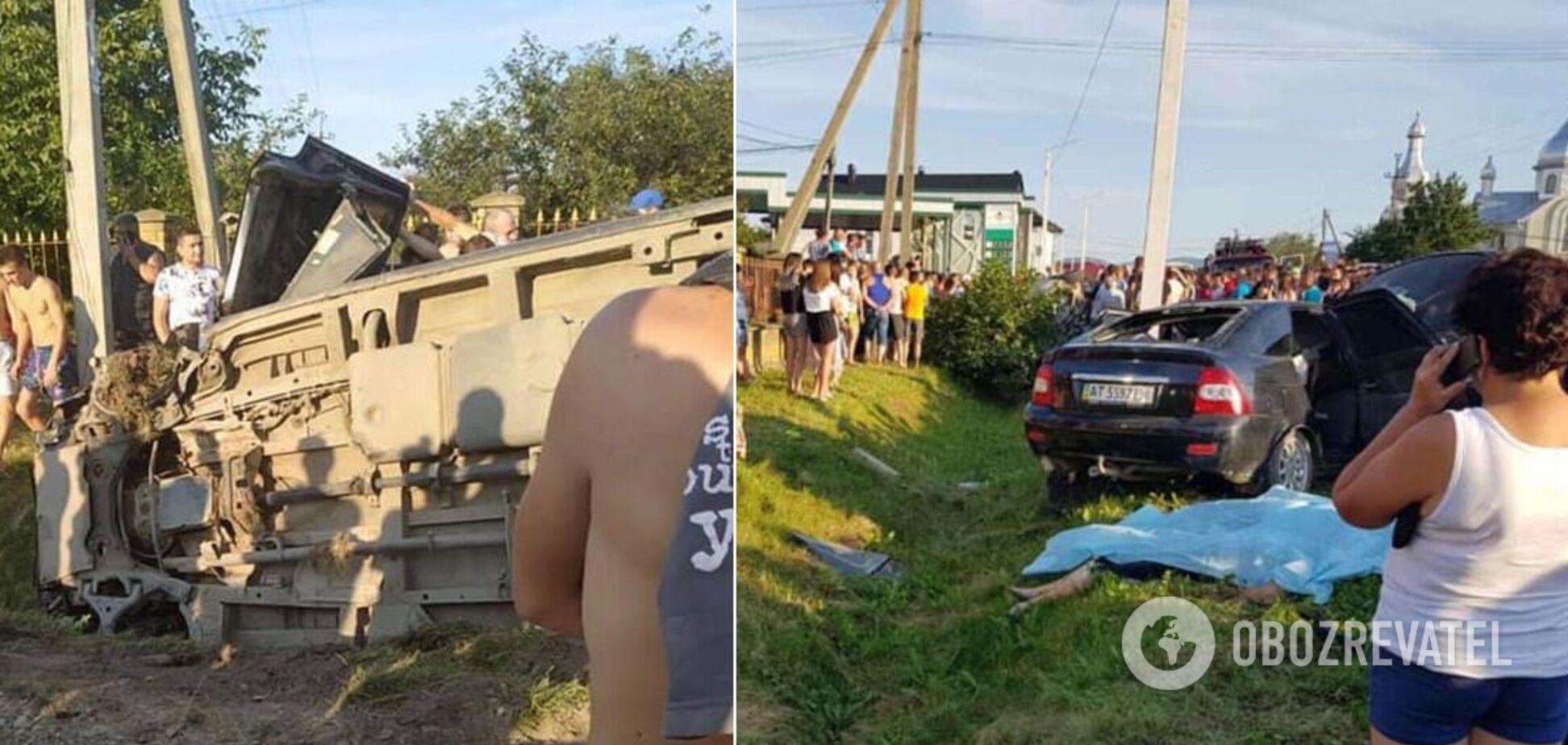На Прикарпатті в ДТП розбилася сім'я: троє загиблих, мама з дитиною – у лікарні. Фото