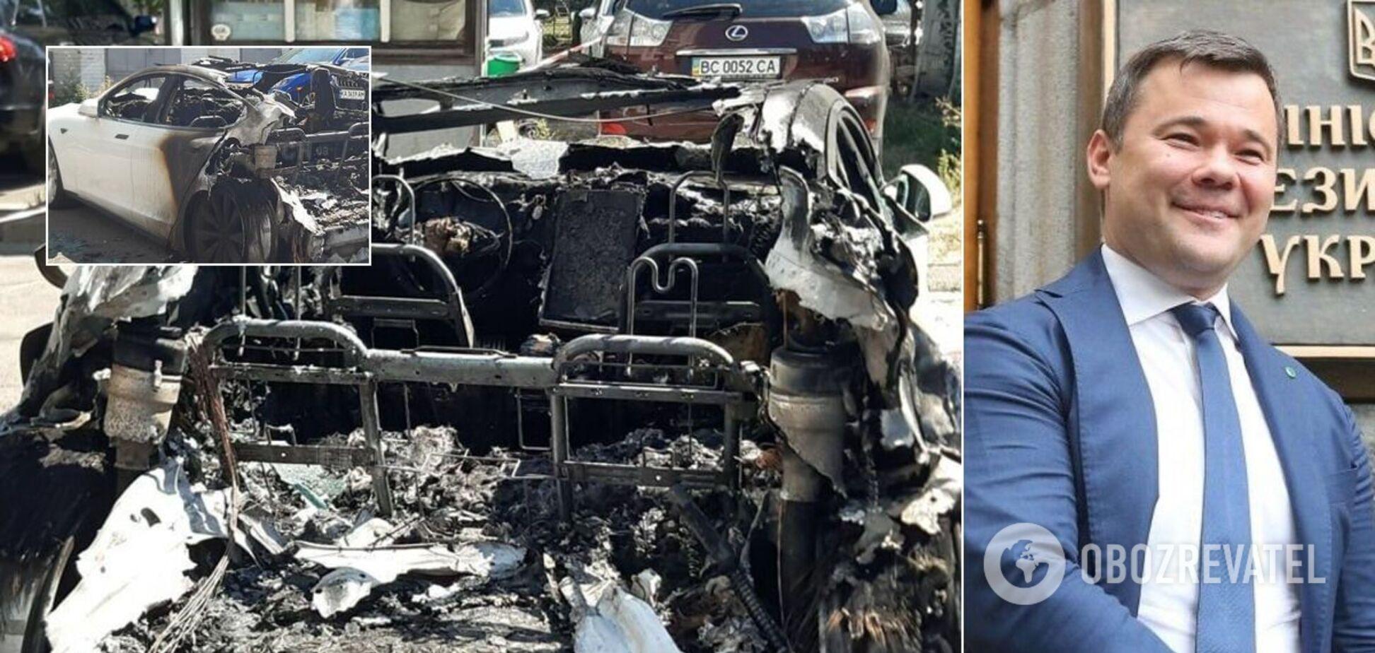 З'явилися фото спаленої Tesla Богдана: згоріла майже дощенту