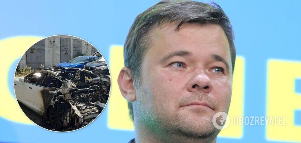 В Киеве подожгли Tesla экс-главы ОП Богдана. Эксклюзив