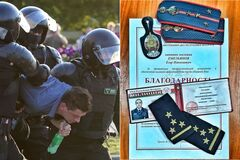 Офицер белорусской милиции ушел в отставку на фоне протестов