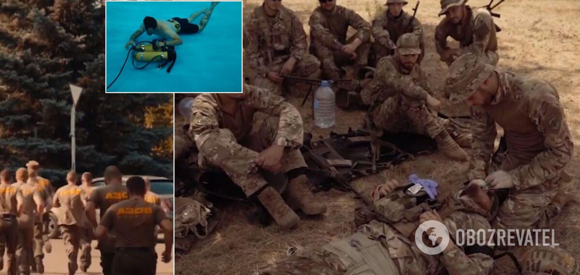 Бійці 'Азова' плавають зв'язаними і вчаться наступати