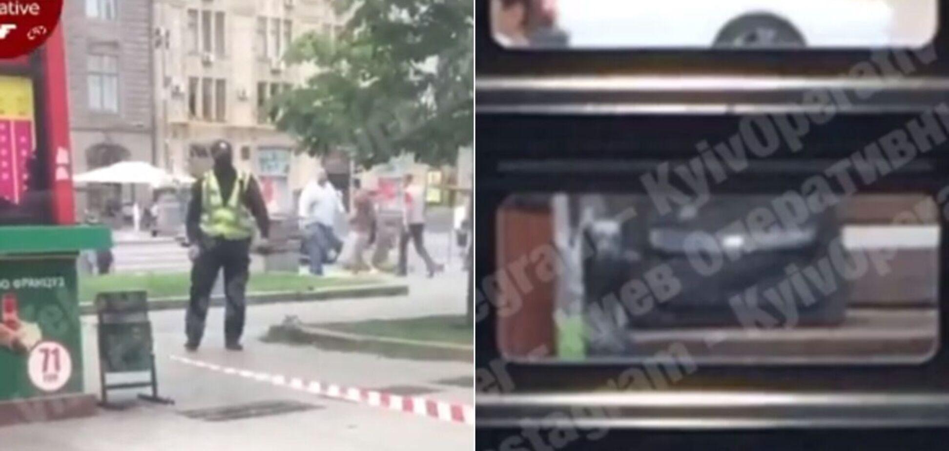 У центрі Києва знайшли 'підозрілу' сумку