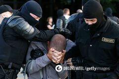Задержание ОМОНом протестующих в Беларуси