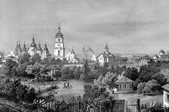 Картина 'Пейзаж старого города с Ярославова вала'