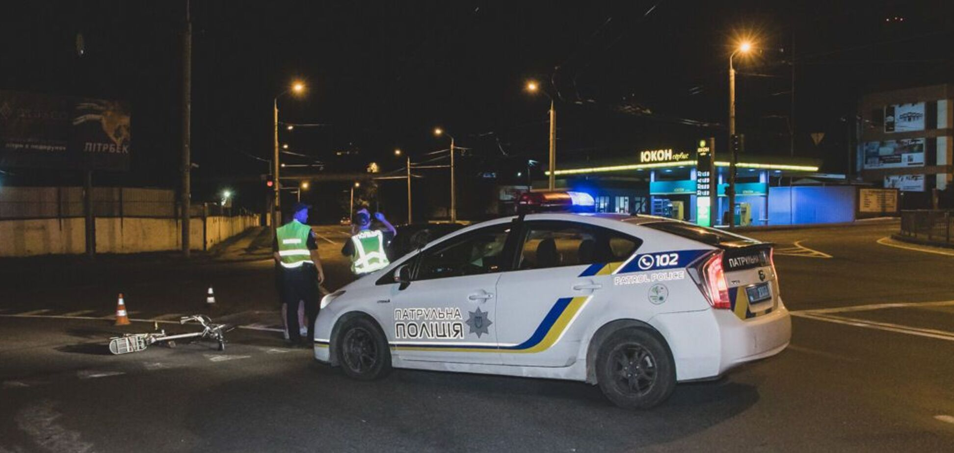 У Дніпрі авто збило п'яного велосипедиста: чоловіка забрала 'швидка'