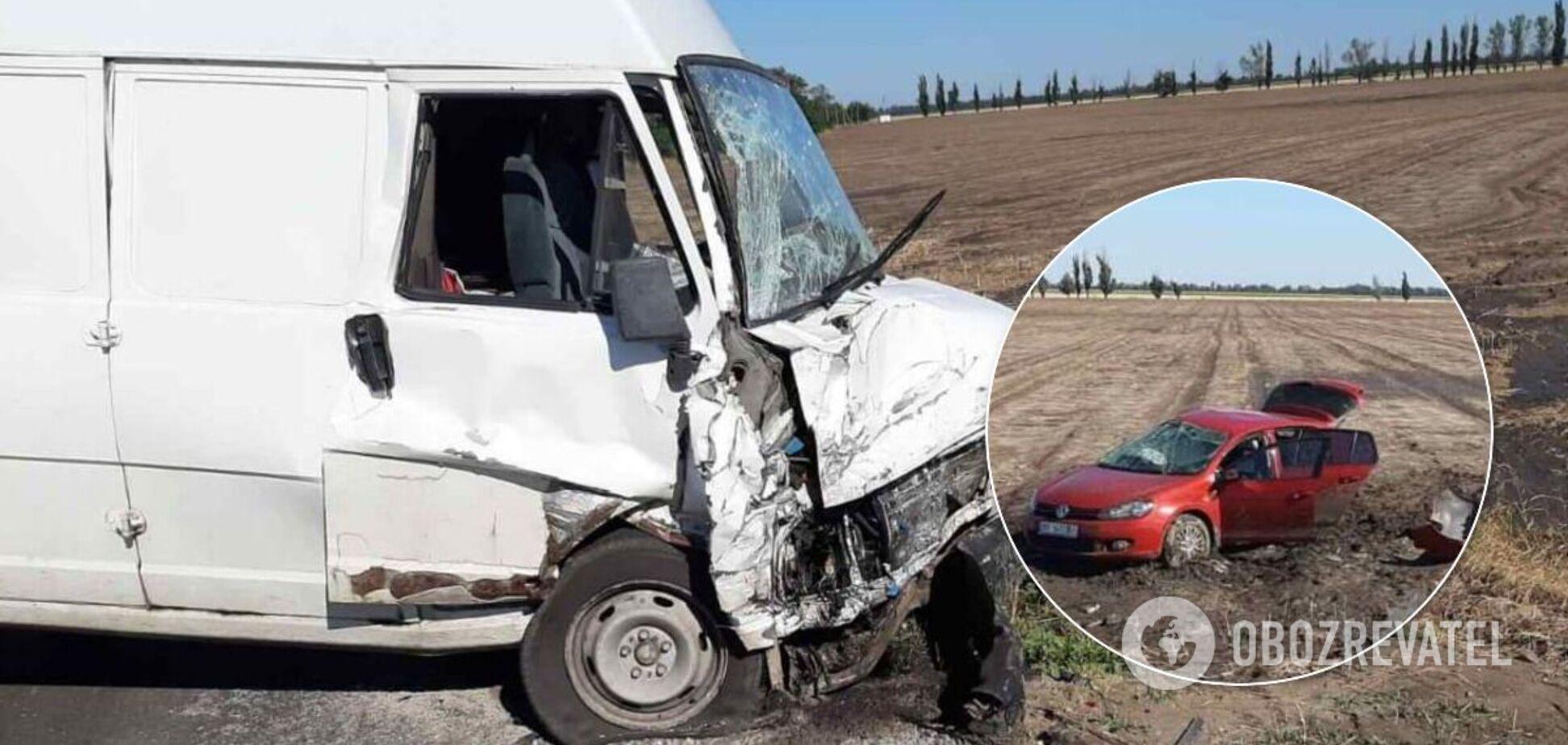 Під Скадовськом у ДТП з вантажівкою загинули батько і двоє дітей. Фото