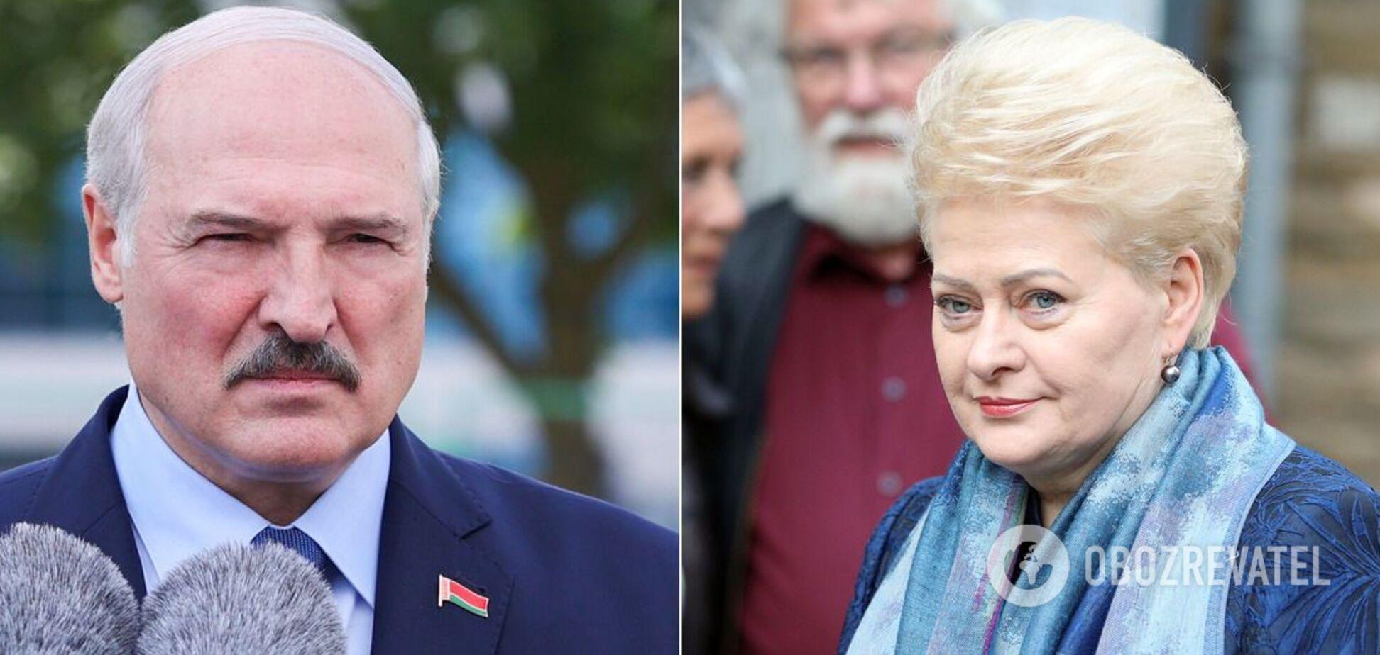 Даля Грибаускайте назвала Лукашенка кривавим диктатором