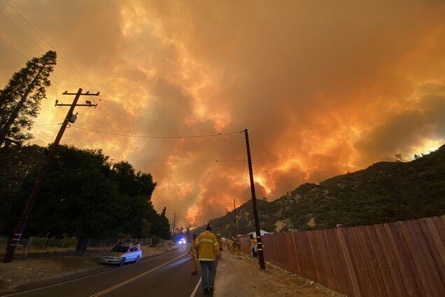 Масштабный лесной пожар вспыхнул в Калифорнии