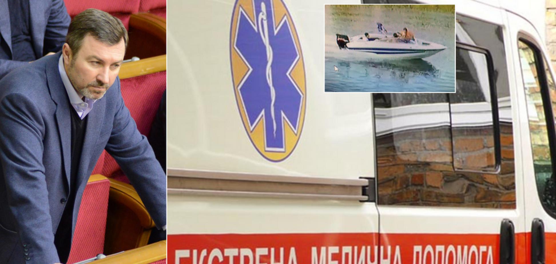 На Днепропетровщине два катера столкнулись лоб в лоб: пострадавшие обвинили бывшего нардепа-регионала