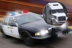 Полицейские преследовали водителя тягача Volvo
