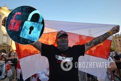Блокировки интернета в Беларуси