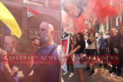 Киевляне вышли поддержать протестующих в Беларуси