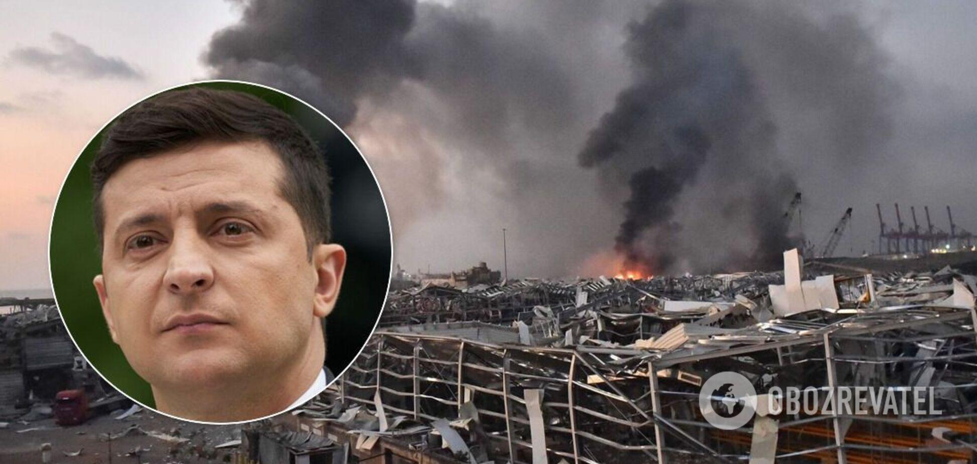 Зеленський розпорядився допомогти Лівану через смертельний вибух