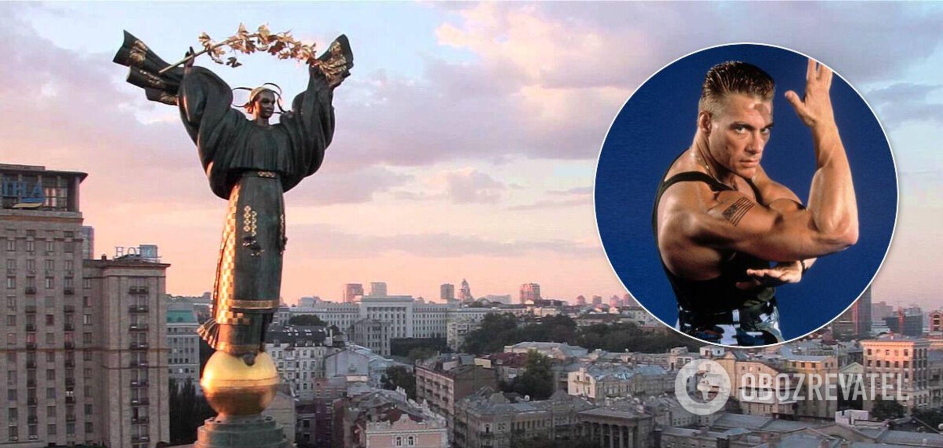 Ван Дамм снимается в Киеве